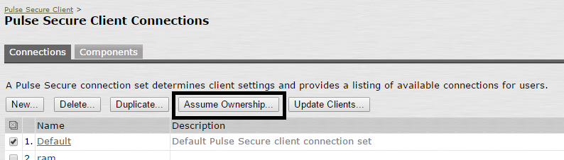 Pulse Secure Article: KB40578 - Attempt to update Pulse