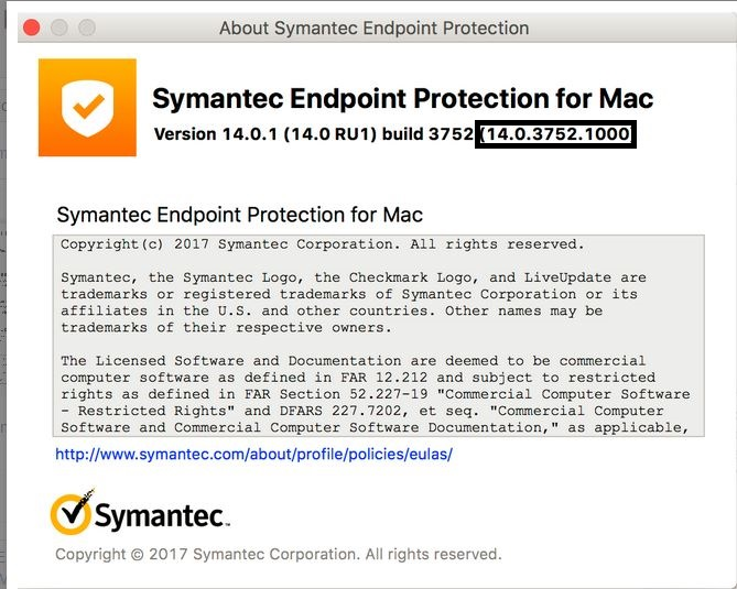 symantec endpoint protection 14.2 ru1