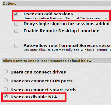 Pulse Secure Article: KB40217 - Remote Desktop(s) with high